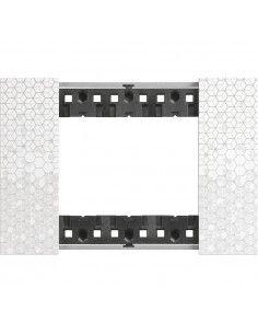 BTicino KA4803MW Living Now - placca 3 moduli pixel
