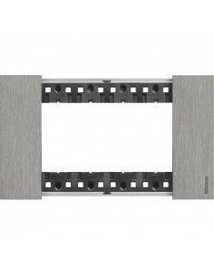BTicino KA4804ZG Living Now - placca 4 moduli acciaio