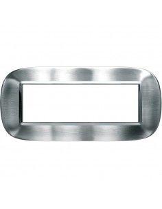 Axolute - placca ellittica Acciaio Alessi in metallo 6 posti colore inox spazzolato alessi