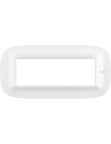 Axolute - placca ellittica Bianchi 6 posti Corian colore glacer white