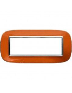 Axolute - placca ellittica Liquidi in policarbonato 6 posti colore arancio liquid