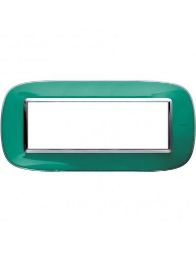 Axolute - placca ellittica Liquidi in policarbonato 6 posti colore verde liquid