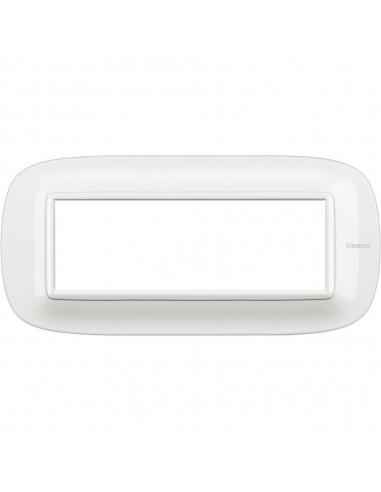 Axolute - placca ellittica Bianchi 6 posti colore bianco Axolute