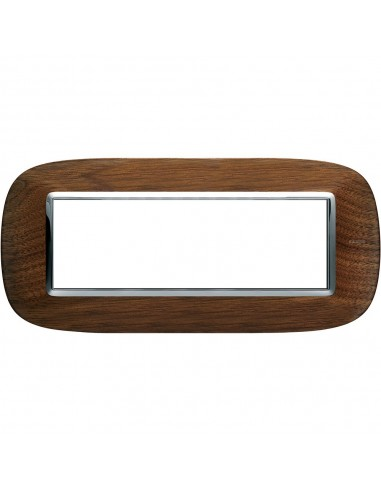 Axolute - placca ellittica Legni in legno 6 posti noce