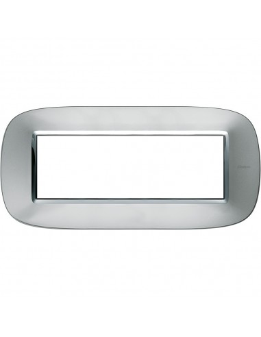 Axolute - placca ellittica Metallizzati in metallo 6 posti colore alluminio axolute