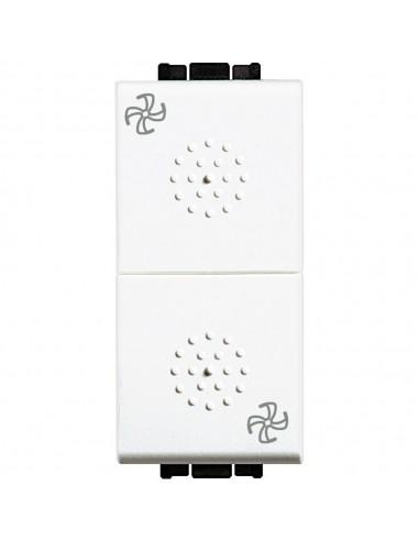 LivingLight Bianco - commutatore doppio tasto simbolo ventola
