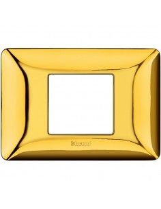 BTicino AM4819GOR Matix - placca 2 moduli centrati oro lucido