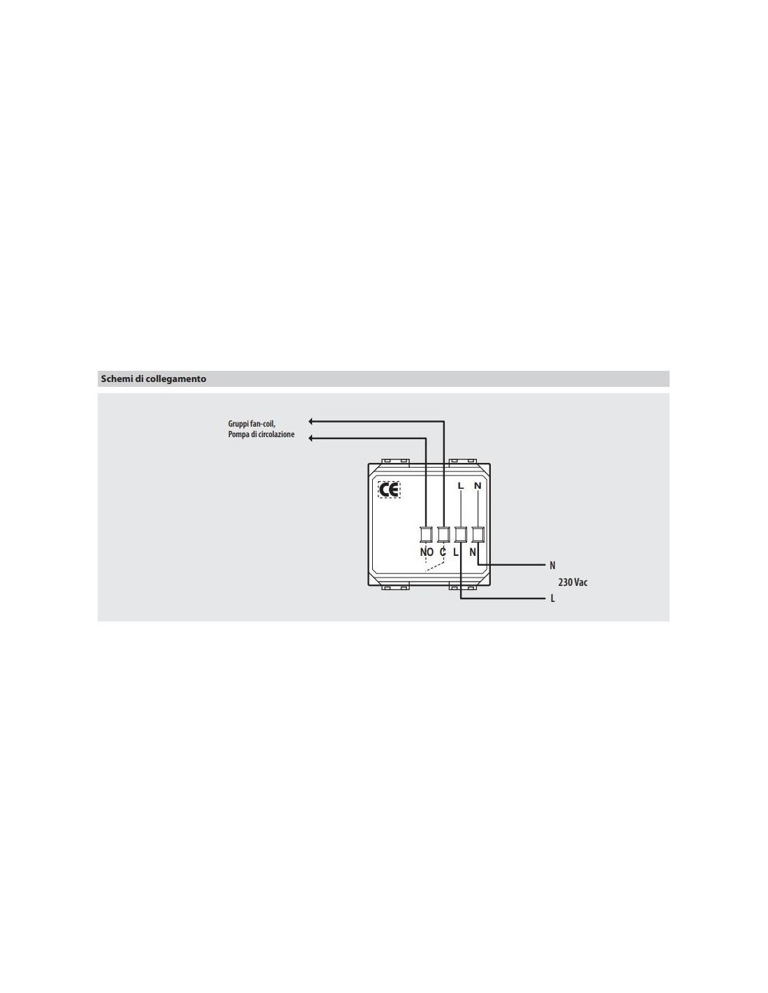 Bticino hd4442 axolute termostato ambiante estate inverno for Istruzioni termostato bticino