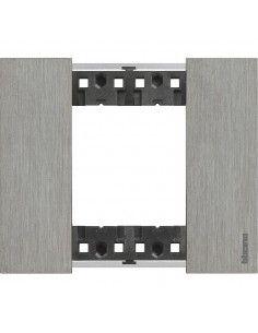 BTicino KA4802ZG Living Now - placca 2 moduli acciaio