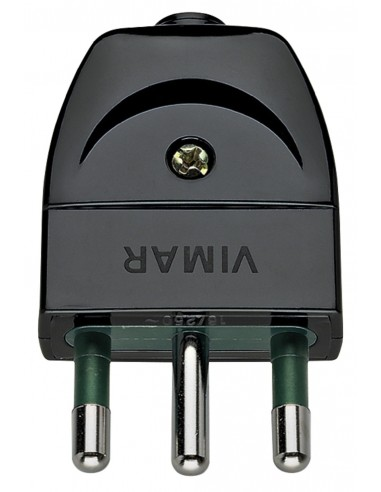 Vimar 00202 - spina 16A assiale nero