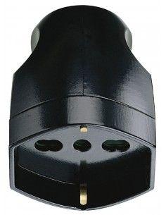 Vimar 00225 - presa 16A universale assiale nero
