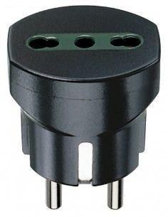 Vimar 00301 - adattatore tedesco/francese + P17/11 nero