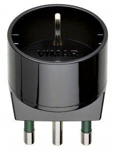Vimar 00303 - adattatore S17 + P30 nero