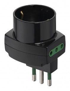 Vimar 00313 - adattatore sfalsato verticale nero