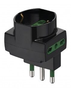 Vimar 00314 - adattatore sfalsato verticale nero