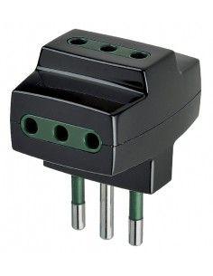Vimar 00320 - adattatore multiplo nero
