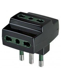 Vimar 00321 - adattatore multiplo S17 + 3P17/11 nero
