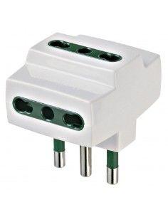Vimar 00321.B - adattatore multiplo S17 + 3P17/11 bianco