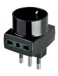 Vimar 00323 - adattatore multiplo S17 + 2P17/11 + P30 nero