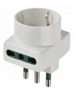 Vimar 00323.B - adattatore multiplo S17 + 2P17/11 + P30 bianco