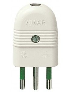 Vimar 01021.B - spina 10A assiale bianco