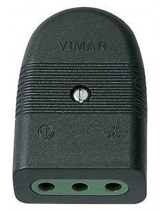 Vimar 01023 - presa 10A assiale nero