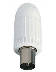 Vimar 01644 - connettore TV-RD-SAT maschio assiale bianco
