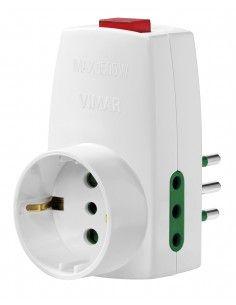 Vimar 0P00330.B - adattatore S11 + 2P11 + P30 + interruttore bianco