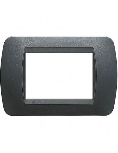 BTicino L4803PA LivingLight - placca 3 moduli acciaio scuro