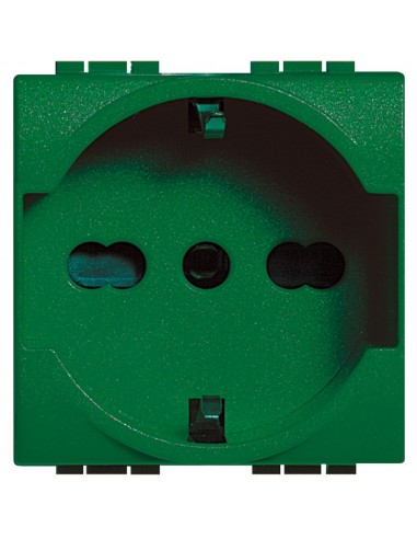 LivingLight - presa per utenze privilegiate verde