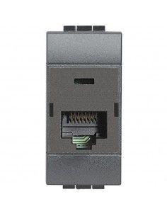 LivingLight Antracite - connettore per trasmissione dati RJ45 cat. 6