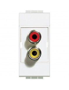 LivingLight Bianco - connettore doppio RCA