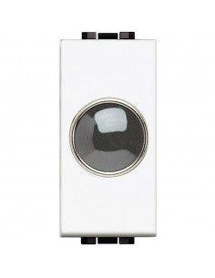 LivingLight Bianco - portalampada con diffusore trasparente