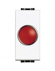LivingLight Bianco - portalampada con diffusore rosso