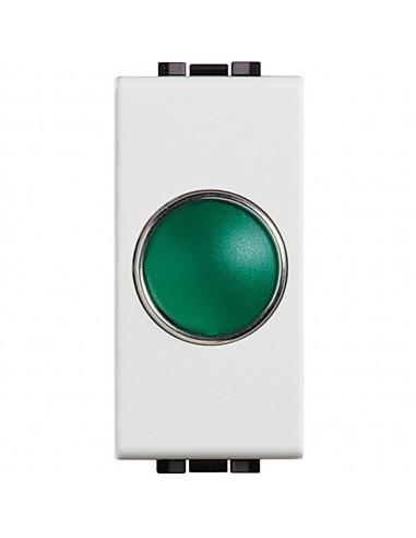LivingLight Bianco - portalampada con diffusore verde