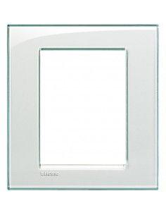 BTicino LNA4826KA LivingLight - placca 3+3 moduli acquamarina