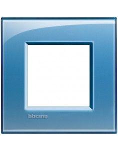BTicino LNA4802AD LivingLight - placca 2 moduli azzurro