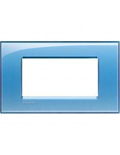 BTicino LNA4804AD LivingLight - placca 4 moduli azzurro