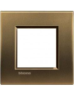 BTicino LNA4802BZ LivingLight - placca 2 moduli bronzo