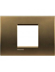 BTicino LNA4819BZ LivingLight - placca 2 moduli centrati bronzo