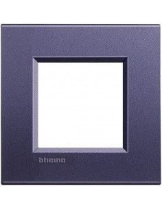 BTicino LNA4802CB LivingLight - placca 2 moduli club