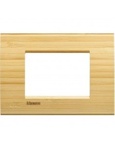 LivingLight - placca Essenze quadra in legno massello 3 posti bamboo